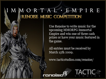 Immortal Empire Renoise Music Competition Website