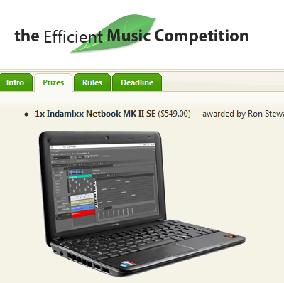 the Efficient Music Competition site
