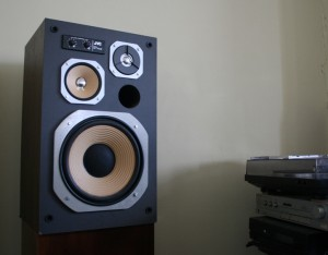 hi fi speaker in separate room