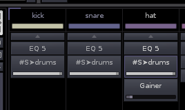 Drum tracks being sent to a common Send Track