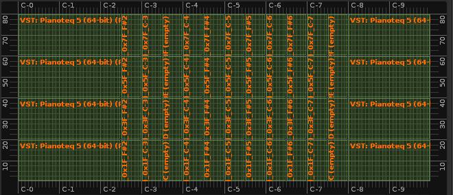 Keyzones after rendering