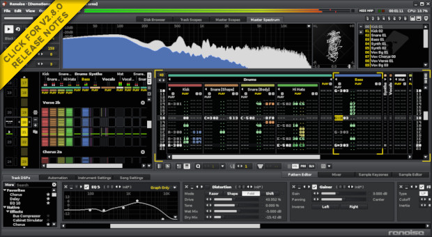 Renoise 2.8 screenshot